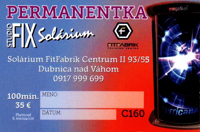 Permanentka FitFabrik 100min