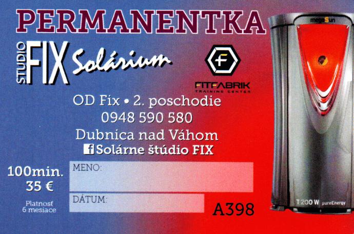 Permanentka Fix 100min