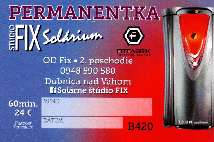 Permanentka Fix 60min